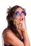 Jeune troussequin sexy de citron de désir de femme Image libre de droits