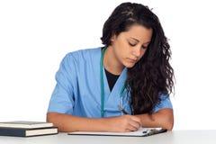 Jeune étudiant en médecine Images libres de droits