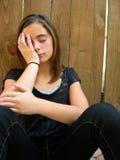 Jeune Tween triste avec des problèmes Images libres de droits