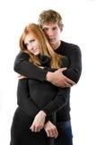 Jeune type beau avec sa belle amie Photographie stock libre de droits