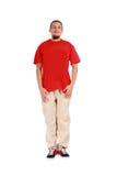 Jeune type beau avec sauter moderne de vêtements Images stock