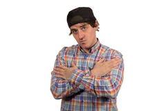 Jeune type frais avec le chapeau Image stock