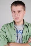 Jeune type regardant avec dégoût Image libre de droits
