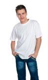 Jeune type souriant mignon Photographie stock