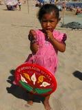 Jeune vendeur de plage Photo stock