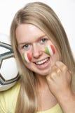 Jeune ventilateur de sports femelle Photos stock