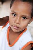 Jeune verticale asiatique de garçon à Philippines Images libres de droits