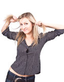 Jeune verticale belle de femme Photographie stock