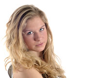 Jeune verticale blonde Photo stock