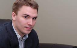Jeune verticale d'homme d'affaires Image libre de droits