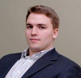 Jeune verticale d'homme d'affaires Photos libres de droits