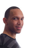 Jeune verticale d'homme de couleur dans la chemise de té Images libres de droits