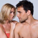 Jeune verticale de couples Photo stock