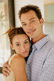 Jeune verticale de couples photos libres de droits