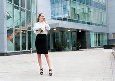 Jeune verticale de femme d'affaires Image stock