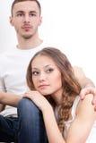 Jeune verticale de plan rapproché de couples Photo stock