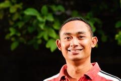 Jeune verticale ethnique asiatique belle de mâle adulte Photos libres de droits