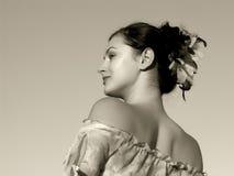 Jeune verticale femelle Photographie stock libre de droits