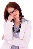 Jeune verticale femelle de gestionnaire Images libres de droits