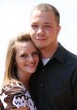 Jeune verticale heureuse de couples Photos libres de droits
