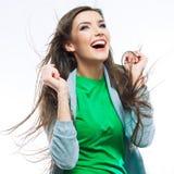 Jeune verticale heureuse de femme Photos libres de droits