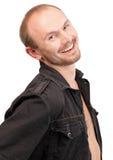 Jeune verticale macho de sourire Photos libres de droits
