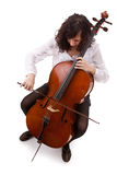 Jeune violoncelliste Photographie stock