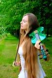 Jeune violoniste Photo libre de droits