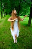 Jeune violoniste Photos stock