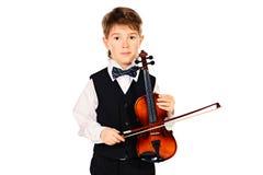 Jeune violoniste Photographie stock libre de droits