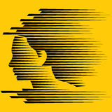 Jeune visage abstrait Image libre de droits