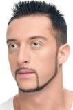 Jeune visage beau d'homme Photo stock