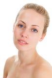 Jeune visage blond de femme Image libre de droits