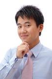 Jeune visage confiant de sourire d'homme d'affaires Photos stock