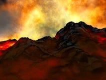 Jeune volcan étant porté Photo libre de droits
