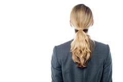 Jeune vue de dos de femme d'affaires Photos stock
