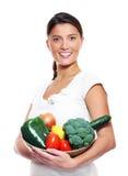 Jeunes épouse et légumes Photos libres de droits