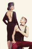 Jeunes acteurs de théâtre de couples photographie stock