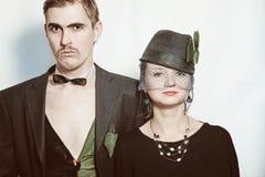 Jeunes acteurs de théâtre de couples photos stock
