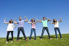 Jeunes adultes en bonne santé et intenses Image stock