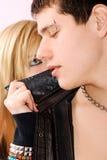 Jeunes ajouter à la perforation Image libre de droits