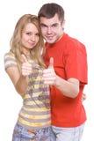 Jeunes ami et amie Images libres de droits
