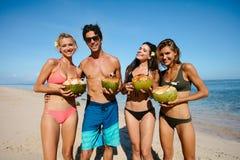 Jeunes amis des vacances d'été Image libre de droits
