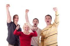 Jeunes amis heureux Images libres de droits
