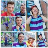 Jeunes amis heureux Image libre de droits