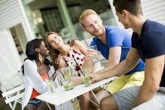 Jeunes amis multiraciaux Photos stock