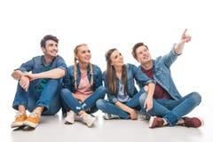 Jeunes amis se dirigeant loin Photos stock