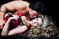 Jeunes amoureux Image libre de droits