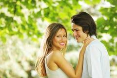 Jeunes amoureux Images libres de droits