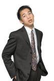 jeunes asiatiques de verticale d'homme d'affaires Photos stock